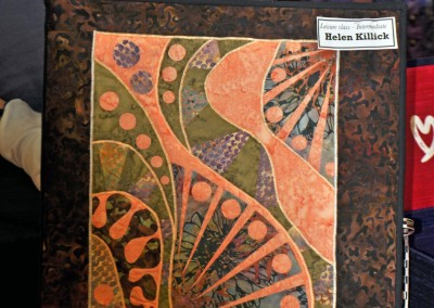 Helen K's  book cover using Gloria Loughman technique