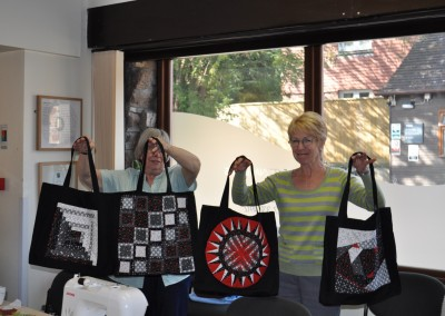 Mary & her bags with Elizabeth