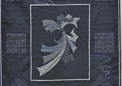 Sue W. Sashiko wall-hanging