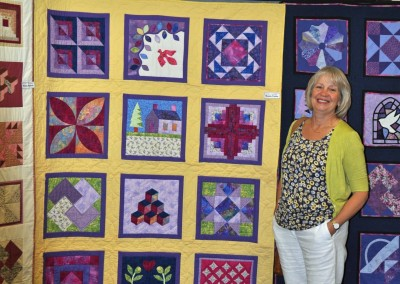 Wendy & completed quilt