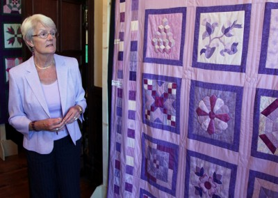 Patricia and completed quilt