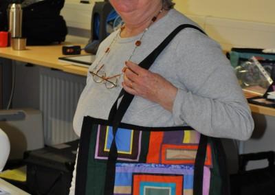 Sally's strippy bag