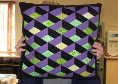 Antje's English pieced cushion