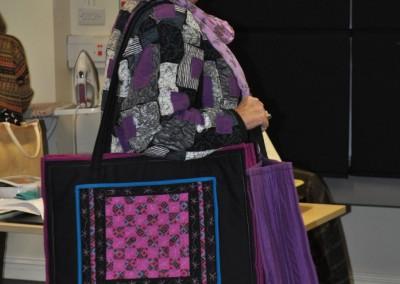 Malin's bag using fabric weaving