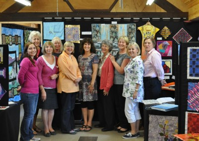 Some of the exhibitors - Nik, Sheila, Barbara, Catherine, Barbara, (Lynne), Sue, Judy, Julia & Gillian