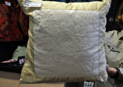 Mary's Candlewick cushion