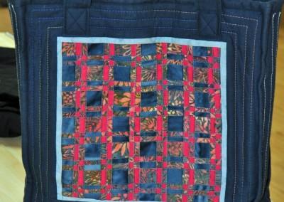 Jane's bag using fabric weaving (2)