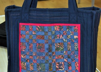 Jane's bag using fabric weaving