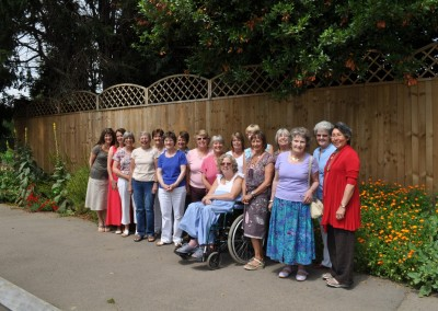 2011 L-R Lynne, Theresa, Judy, Janet, Anthea, Heather, Sue, Hazel, Denise M, Margaret, Julia, Audrey, Sue, Elizabeth, Carole, Helen, Anne-M