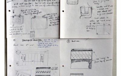 Sketchbook bags - some working drawings