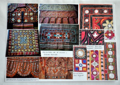 Source pictures & sketches - Indian textiles