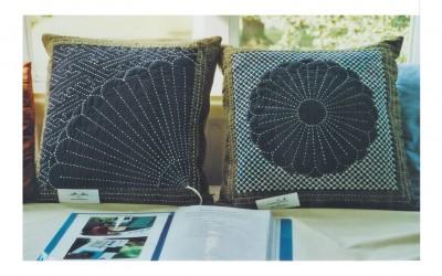 Sue W. Sashiko cushions