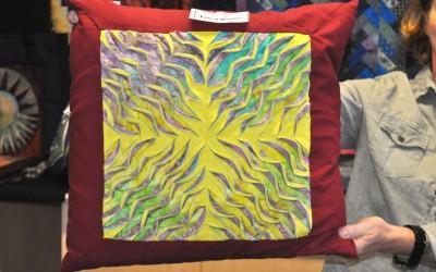 Janet B. Layered & slashed cushion