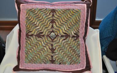 Sally B. Layered & slashed cushion