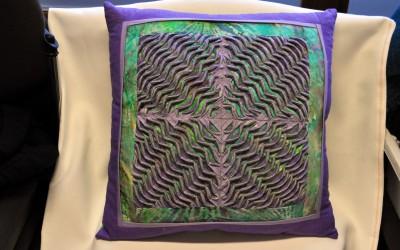 Jane B. Layered & slashed cushion