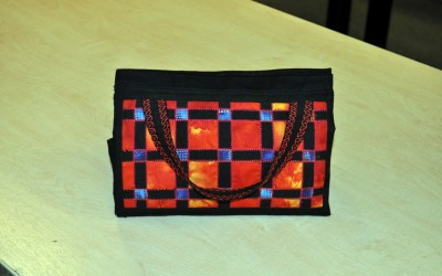 Maggie's bag in fabric weaving