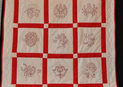 Hazel B. redwork quilt