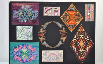 Folk Culture design board based on Indian textiles