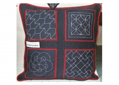 Isobel J. Sashiko cushion