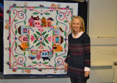 Jo Clymo and applique quilt