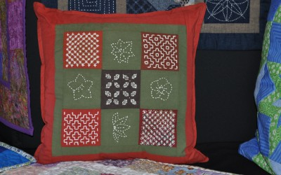 Anthea H. Sashiko cushion