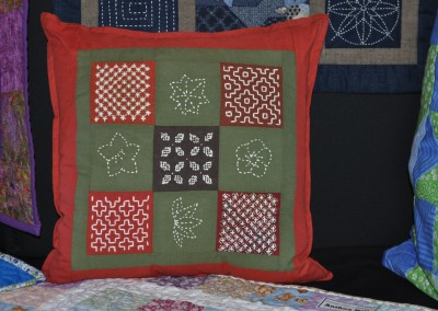 Anthea H. Sashiko cushion