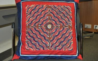 Malin W.  Layered & slashed cushion