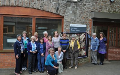 2013 L-R Anne-Marie, Sandy, Melita, Antje, Anna, Malin, Sue, Jane, Anthea, Raita, Sally, Lynne, Katy & Elaine (kneeling)