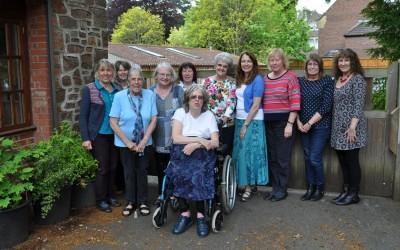 5. 2015 L-R Annie, Jan, Sue, Margaret, Bridget, Margaret, Helen,Theresa, Pat, Julia, Lynne