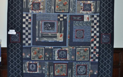 Sue W. Amazing Sashiko quilt; won a 1st prize at Quilts UK
