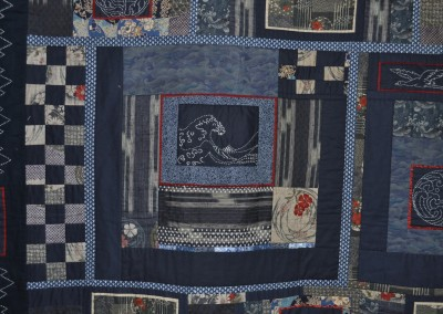 Sue Sashiko quilt detail