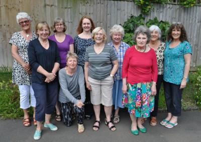 2014 L-R Malin, Nicky, Katie, Elaine (in front), Jane, Melita, Sally, Carole, Jill, Lynne