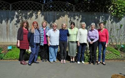 2015 L-R Lynne, Kathy, Antje, Hazel, Jo, Nushka, Wendy, Judy, Anthea