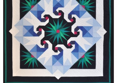 Completed quilt - I called it 'Birds of a Feather'