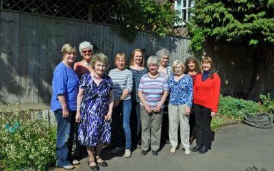 2015 L-R Margaret, Malin, Carole, Nicky, Jane, Sally, Dorcas, Melita, Lynne, Ruth