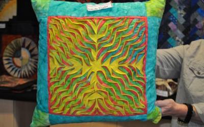 Wendy T. Layered & slashed cushion