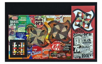 Media design board - I chose packaging labels and from these developed a rotating design.