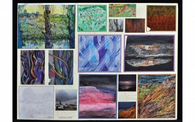Landscape board - interpreting landscapes in different art materials
