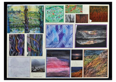 Landscape board - interpreting landscapes in different art materials