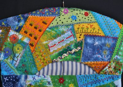 2. Sue N. Design for a pegbag in Crazy Patchwork 4