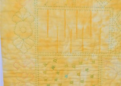 31. Jenny S. Wholecloth quilt - detail 2