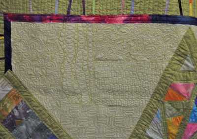 Amanda R. 27. Close up of quilting