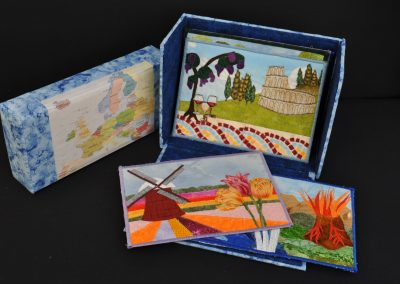 Ruth C. 15. Completed box with postcards